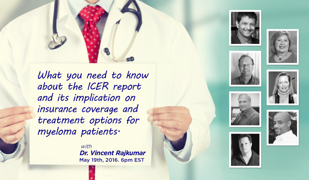 ICER report on myeloma insurance coverage poster
