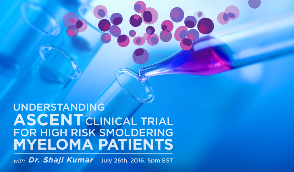 ASCENT clinical trial in smoldering myeloma poster