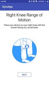 range of motion active task