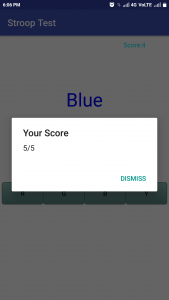 stroop test researchkit