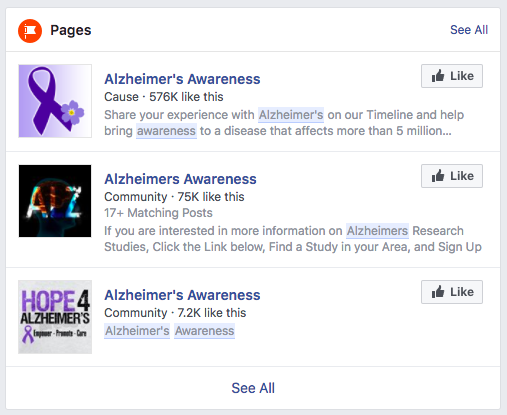 Facebook Community pages