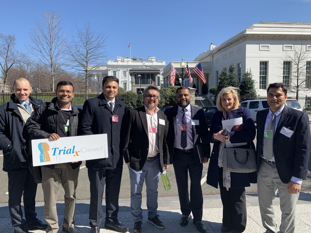 TrialX Team outside the White House